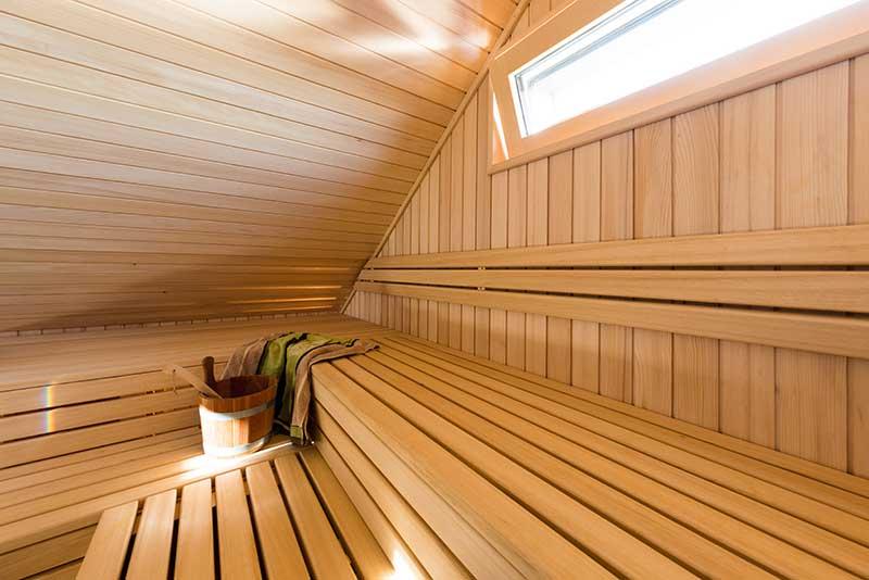 Zimmerei Hasenfratz - Referenzen - Dachschrägensauna