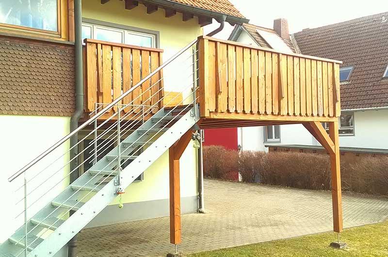 Zimmerei Hasenfratz - Referenzen - Balkonterrasse