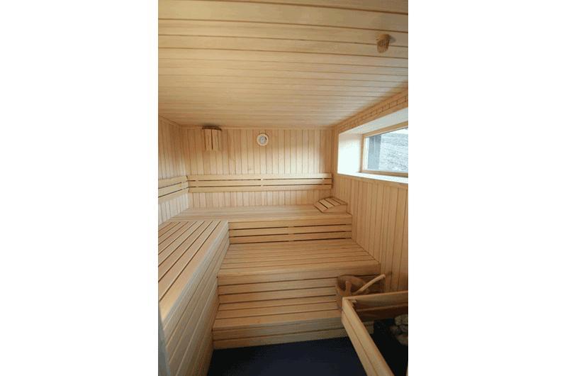 Sauna mit Weißtanne